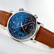 Mühle Glashütte Steel Automatic Blue No numerals 41mm new Teutonia II