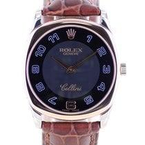 Rolex Cellini Danaos Fehérarany 33mm Fekete Arab