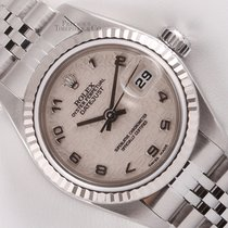 Rolex Silver Automatic White 26mm pre-owned Lady-Datejust