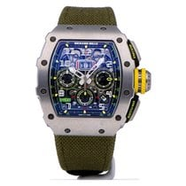 Richard Mille Titane 49.94mm Remontage automatique RM011-03 RM11 03 occasion