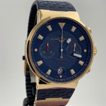 Ulysse Nardin Blue Seal Rose gold 41mm Blue No numerals