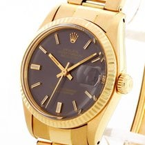 Rolex Yellow gold Automatic Grey 31mm pre-owned Datejust