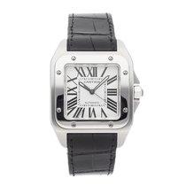 Cartier Santos 100 Steel 51.5mm Silver Roman numerals United States of America, Pennsylvania, Bala Cynwyd