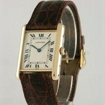 Cartier Tank (submodel) Gelbgold 24mm Silber Römisch