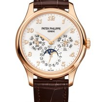 Patek Philippe Perpetual Calendar Rose gold 39mm White Arabic numerals