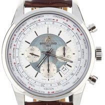 Breitling Transocean Chronograph Unitime Steel 44mm White United States of America, Illinois, BUFFALO GROVE