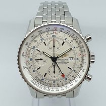 Breitling Navitimer World Steel 46mm Silver