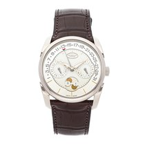 Parmigiani Fleurier White gold Automatic Champagne No numerals 40mm pre-owned Tonda