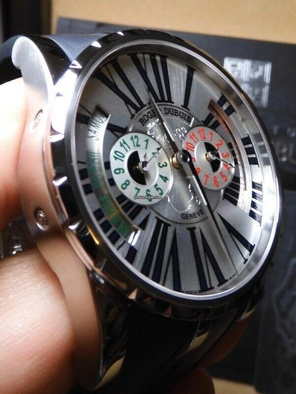 Excalibur Roger Dubuis 99Lnib Ex45 Timezone Tripole Rare 000 Watch Xx28045 mNOvwn80