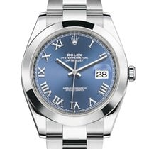 Rolex Datejust Steel 41mm Blue Roman numerals