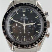 Omega Acier Remontage manuel Noir Sans chiffres 42mm occasion Speedmaster Professional Moonwatch