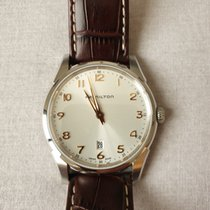 Hamilton Jazzmaster Thinline pre-owned Silver Leather