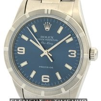 Rolex Air King Precision Steel 34mm Blue Arabic numerals United States of America, New York, New York