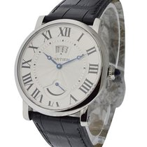Cartier W1556369 Rotonde Big Date GMT in Steel - On Black...