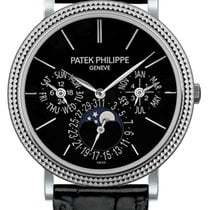 Patek Philippe White gold Automatic Black No numerals 38mm new Perpetual Calendar