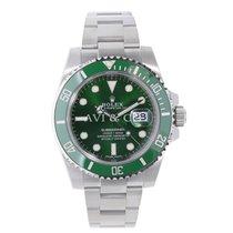 Rolex SUBMARINER Stainless Steel Green Ceramic Watch