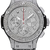Hublot 341.SX.9010.RX.1704 Big Bang 41mm in Steel with Pave...