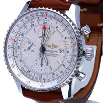 Breitling Navitimer World Chronograph Steel Beige Dial 46 mm...