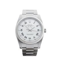 Rolex Air King Stainless Steel & 18K White Gold Unisex 114234...