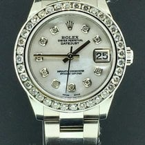 Rolex Datejust Ladies 31mm 178240 2.25ct Diamond Bezel & White...