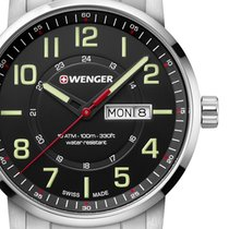 Wenger Steel 42mm Quartz 01.1541.102 new