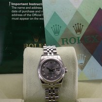 Rolex 179174 Datejust Silver Diamond Dial Stainless Steel...