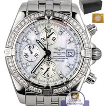 Breitling Chronomat Evolution White MOP Chronograph 44mm...