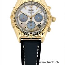 Breitling Yellow gold Automatic Mother of pearl pre-owned Chrono Cockpit