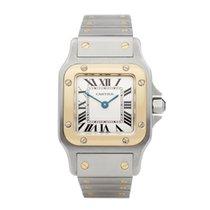 Cartier Santos Galbée Gold/Steel 30mm White Roman numerals