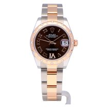 Rolex Lady-Datejust Gold/Steel 31mm Brown Roman numerals