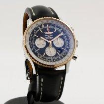 Breitling Navitimer usato 46mm Nero Cronografo Data Pelle di vacchetta