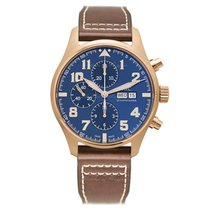 IWC Red gold Automatic Blue 43mm new Pilot Chronograph
