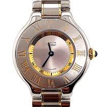 Cartier 21 Must de Cartier Złoto/Stal 28mm Srebrny Rzymskie
