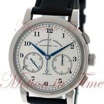 A. Lange & Söhne White gold Manual winding Silver Arabic numerals 39.5mm new 1815