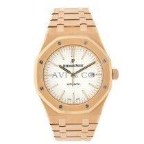 Audemars Piguet Royal Oak 41mm Rose Gold White Dial Watch