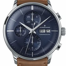 융한즈 (Junghans) Meister Chronoscope Sunray Blue Dial Day Date...