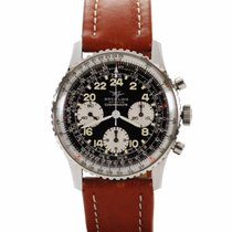 Breitling Navitimer Cosmonaute pre-owned Black Chronograph Leather