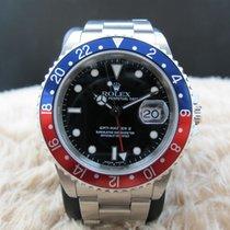 Rolex 2001 ROLEX GMT MASTER 2 16710 PEPSI RED/BLUE BEZEL SEL