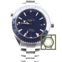 Omega Seamaster Planet Ocean Co Axial 600m GMT blue titanium