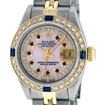 Rolex Datejust QS SS 18K YG Gold Pink Diamond Dial Sapphire