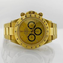Rolex Daytona 40 mm 18k Yellow Gold Ref#16520 Champagne Dial...