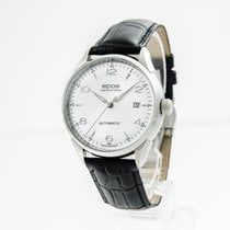 Epos Originale Steel 40mm Silver Arabic numerals
