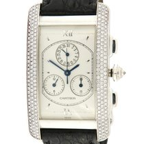 Cartier | Tank Americaine Chronograph, 18kt White Gold and...