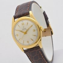 Tudor Yellow gold Manual winding White No numerals 33mm pre-owned Prince Oysterdate