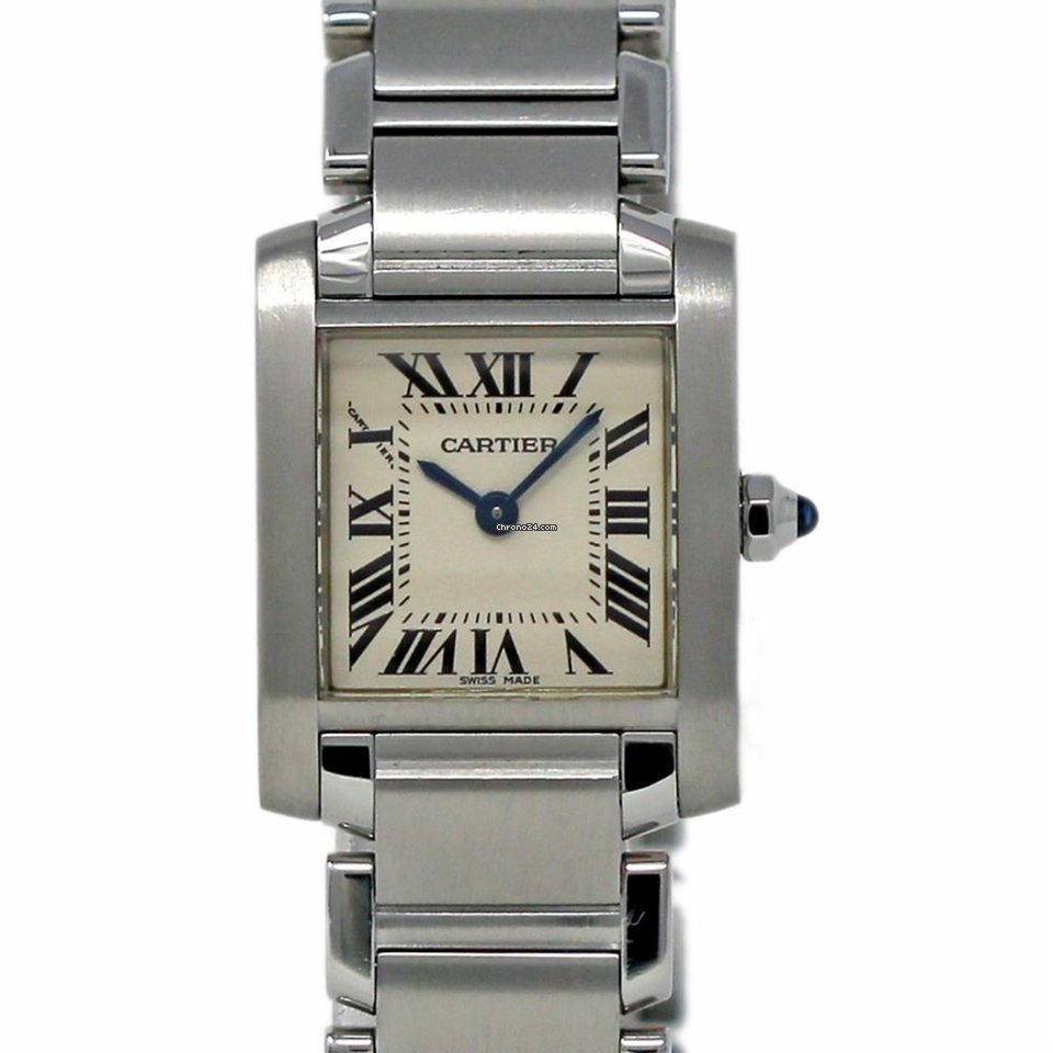 Cartier Tank Francaise Steel White Roman W51008Q3 Box Papers 2... za ... ee96f50b51