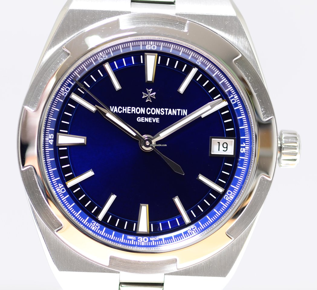 062e3be357d Vacheron Constantin Overseas blue dial Steel 41mm Automatic Chronometer B+P  Traumuhr