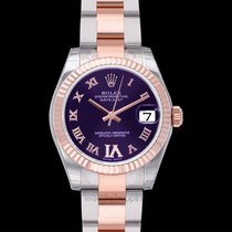 Rolex Or rose Remontage automatique Violet 31mm nouveau Lady-Datejust
