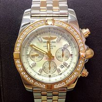 Breitling Chronomat 44 Gold/Steel 44mm Mother of pearl No numerals United Kingdom, Wilmslow