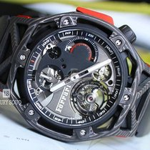 Hublot Carbon Manual winding pre-owned Techframe Ferrari Tourbillon Chronograph