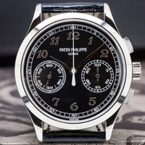 Patek Philippe Chronograph Złoto białe 39mm Czarny Arabskie